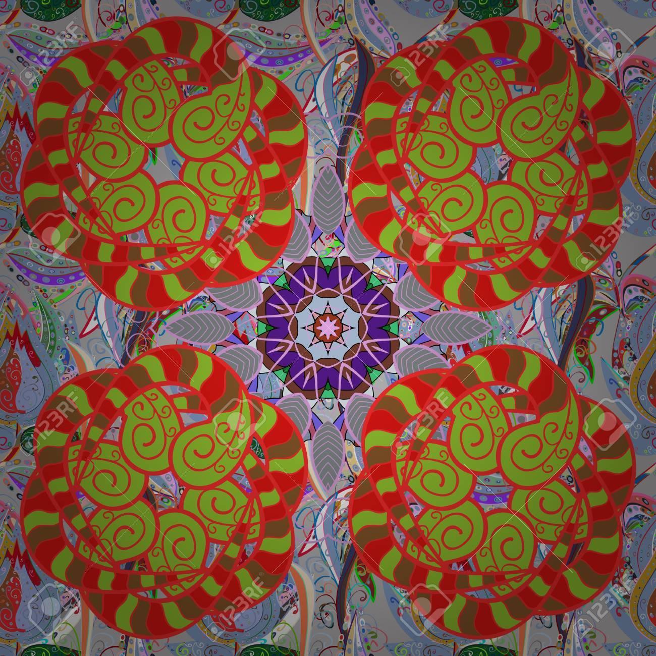 Baby Shower, Menu, Flyer, Banner Template, Mandala Background ...