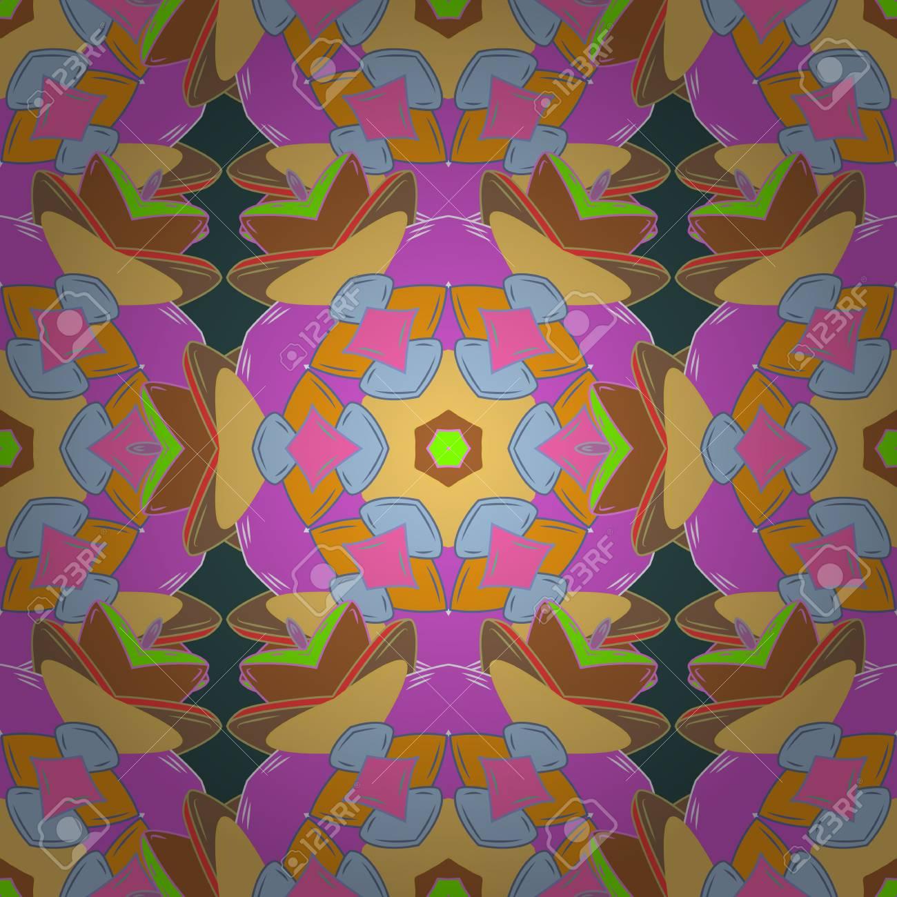 Coloriage Fleur Doranger.Livre De Coloriage Fleur De Mandala Pour Adultes Vector Illustration