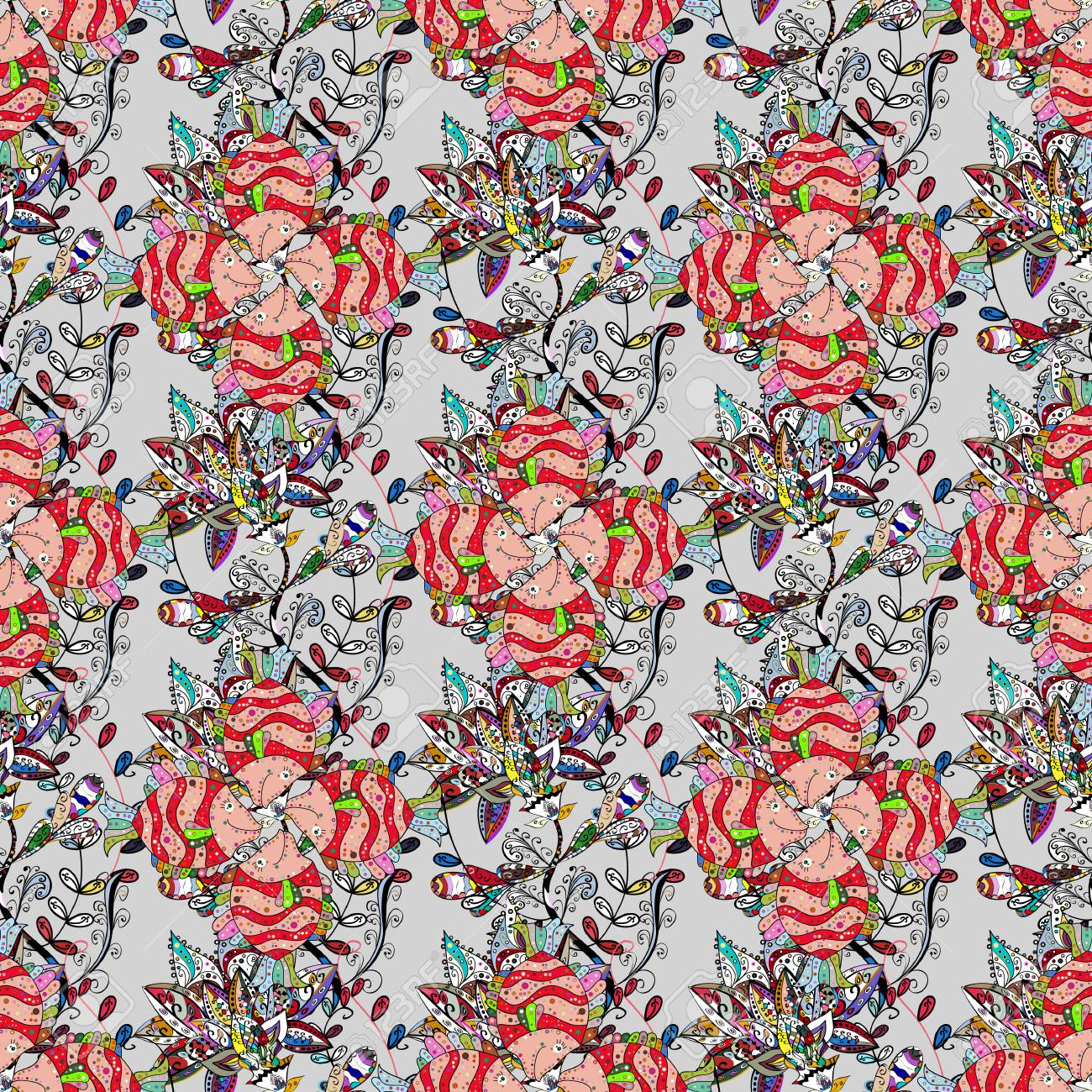 Textile Print For Bed Linen Jacket Package Design Fabric And