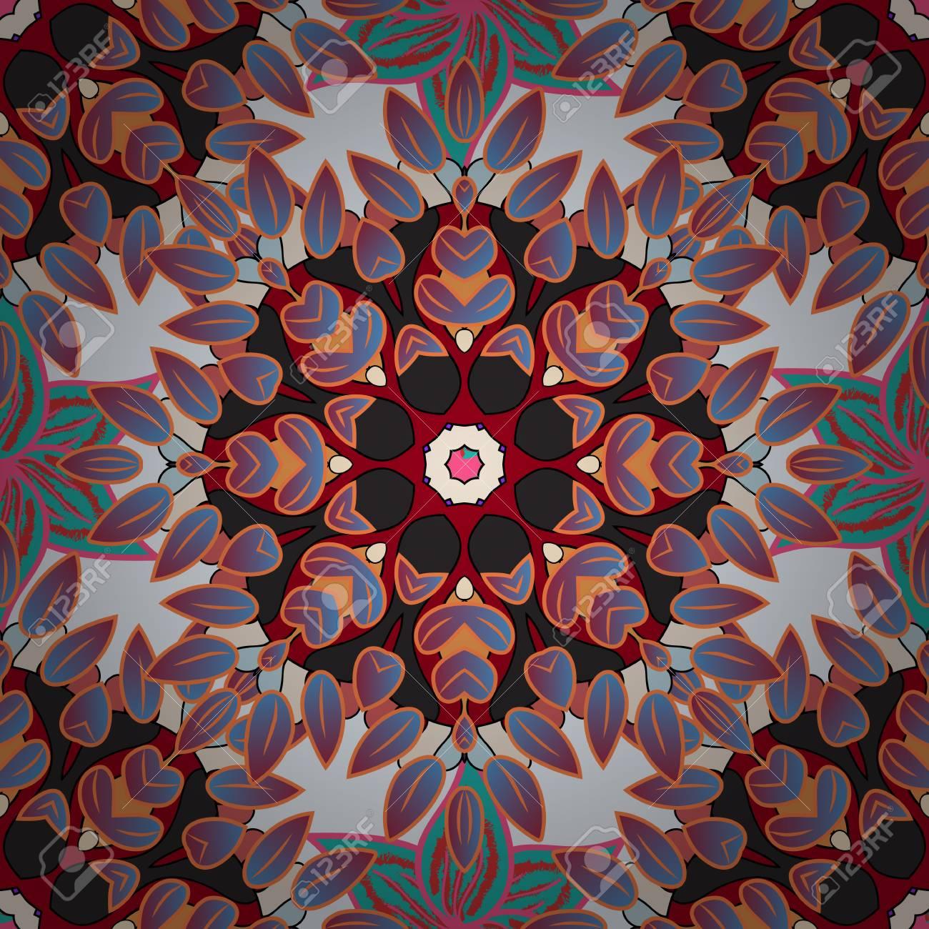 Zentangle Style. Lace Seamless Pattern. Anti-stress Coloring ...