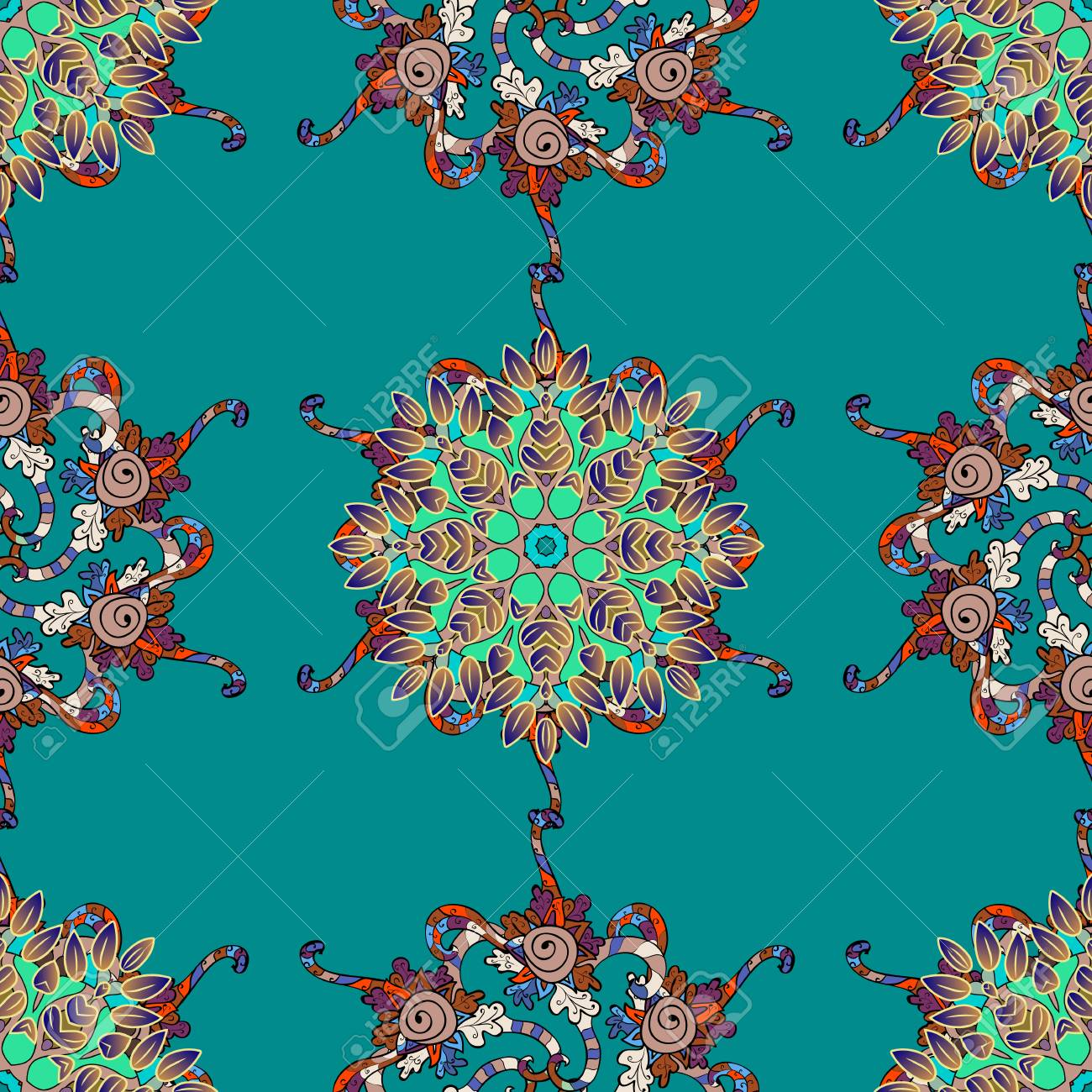 Vector Abstract Flower Background Pretty Floral Print With Small