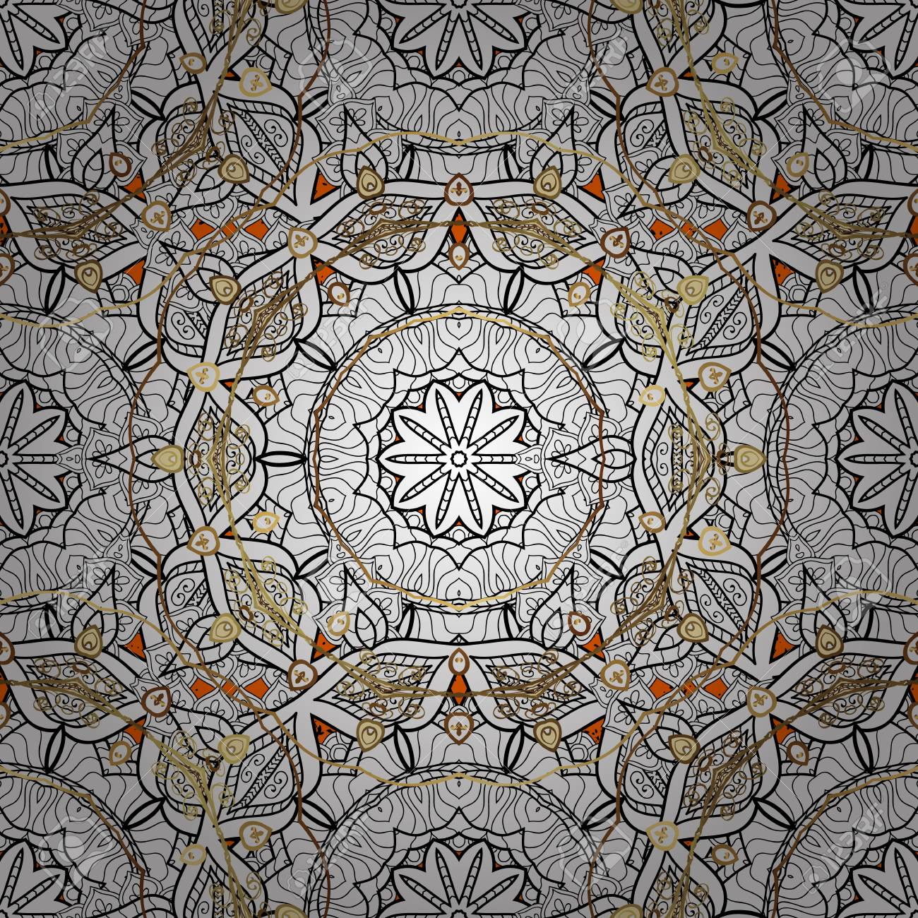 Royal luxury white baroque damask vintage  Vector pattern background