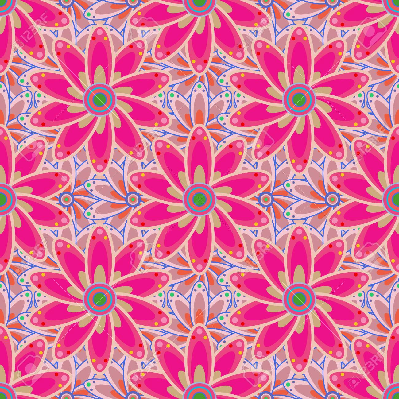 Modern Floral Background Amazing Seamless Floral Pattern With