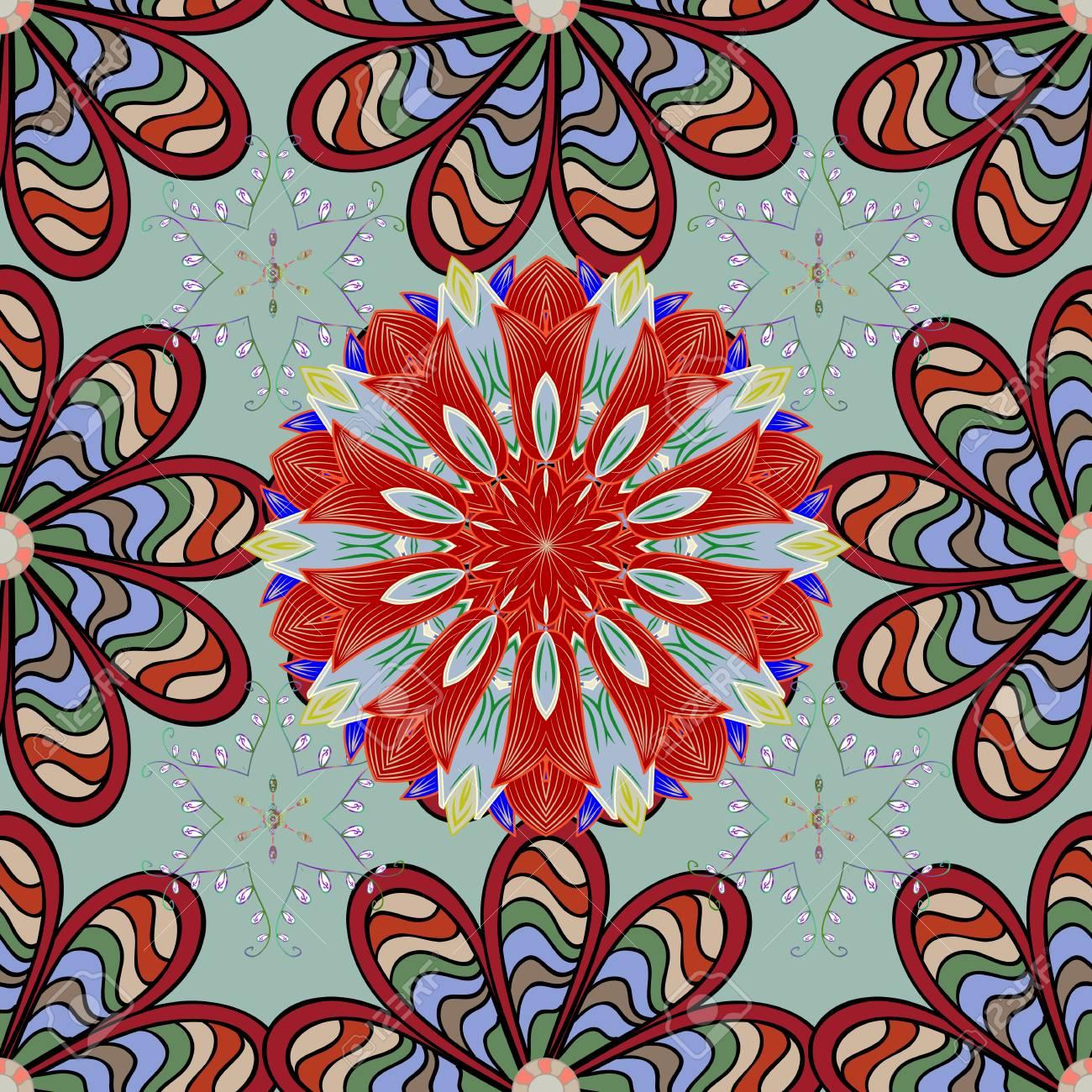 Diseno De Elementos De Flores Planas Flores Zentangle Abstracto