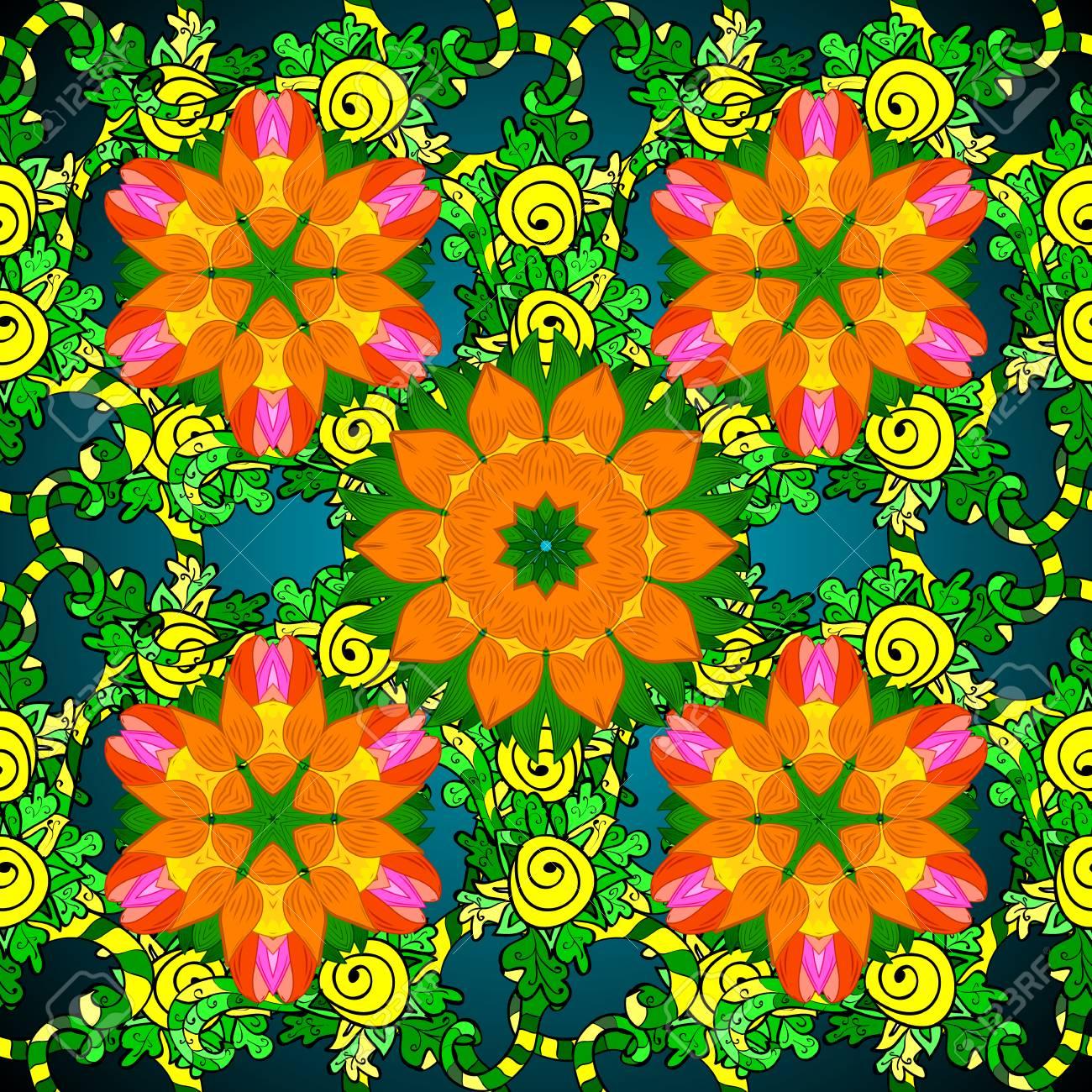 Coloriage Fleur Doranger.Livre De Coloriage De Fleur De Mandala Pour Adultes Illustration