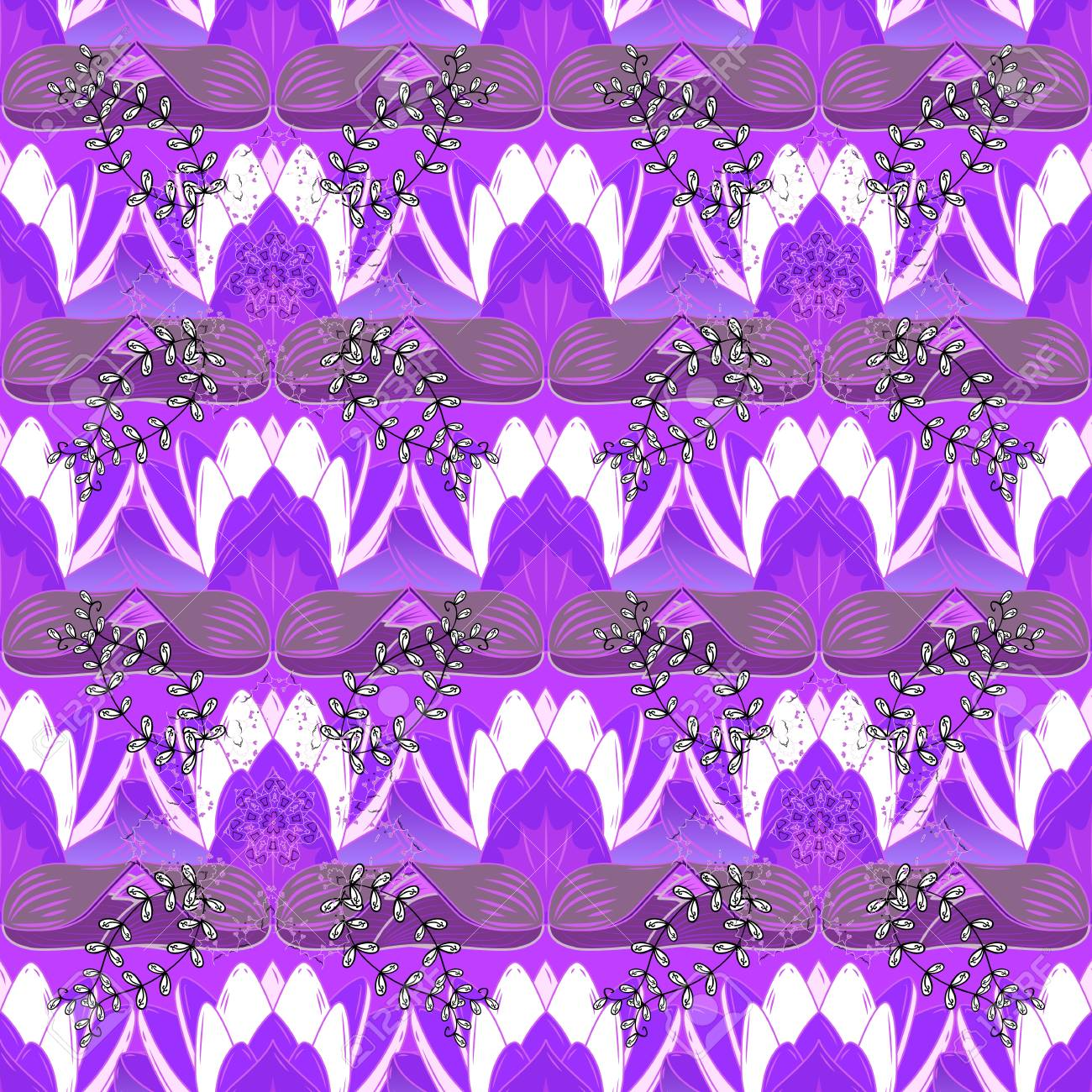 Vector Abstract Flower Background Pretty Floral Print With Purple