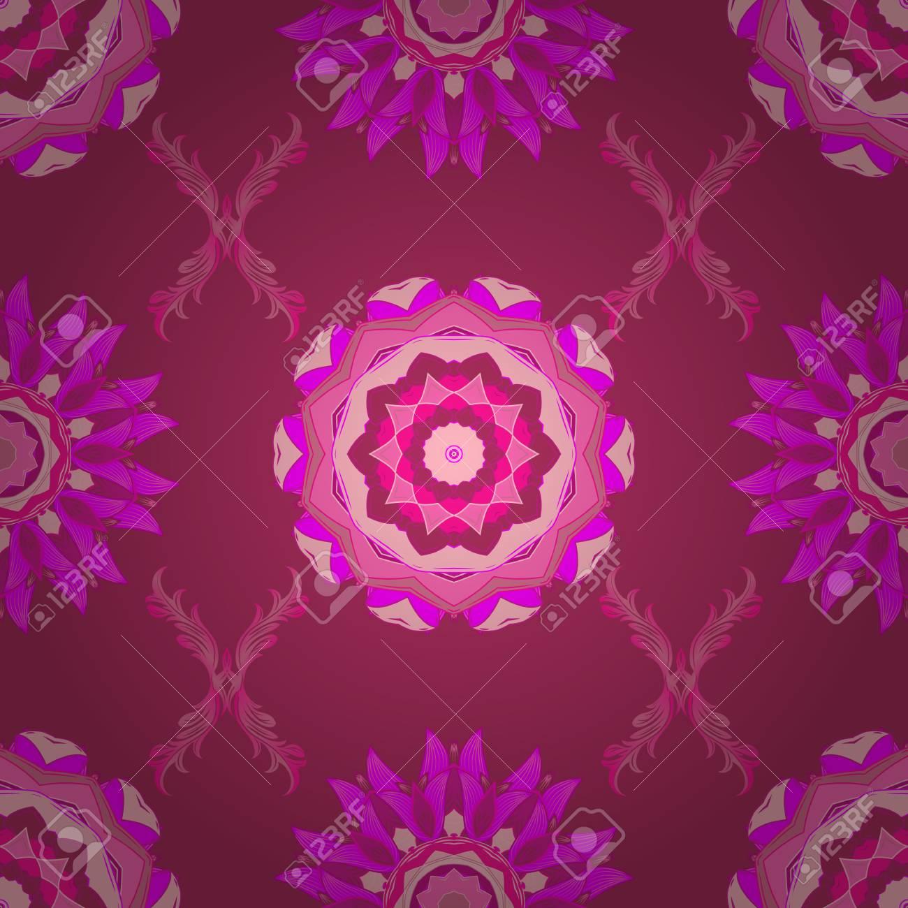 Bonito estampado vintage en pequeñas flores rosas, magentas y neutras.  Floral dulce fondo transparente para textiles, tela, cubiertas, fondos de