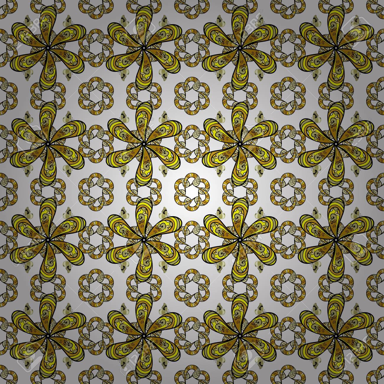 Exotic Flowers Botanical Bright Classic Nature On White Yellow