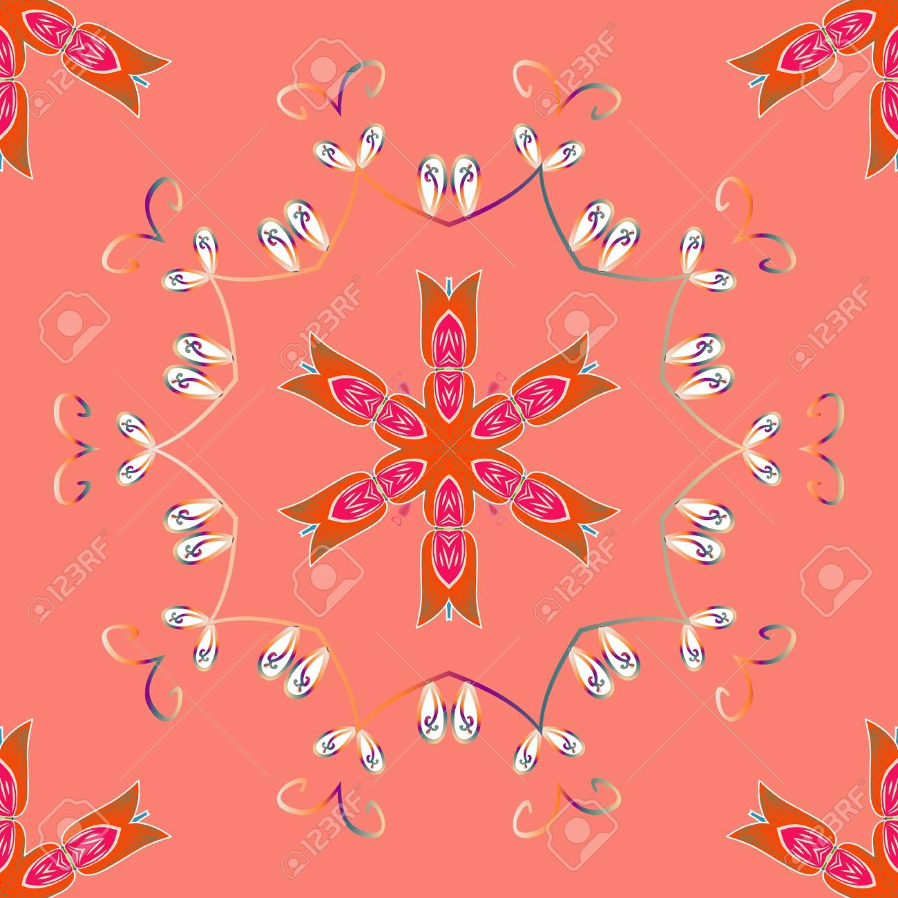 Colorante Antiestrés Para Adulto. Colores Rosa, Naranja Y Beige ...