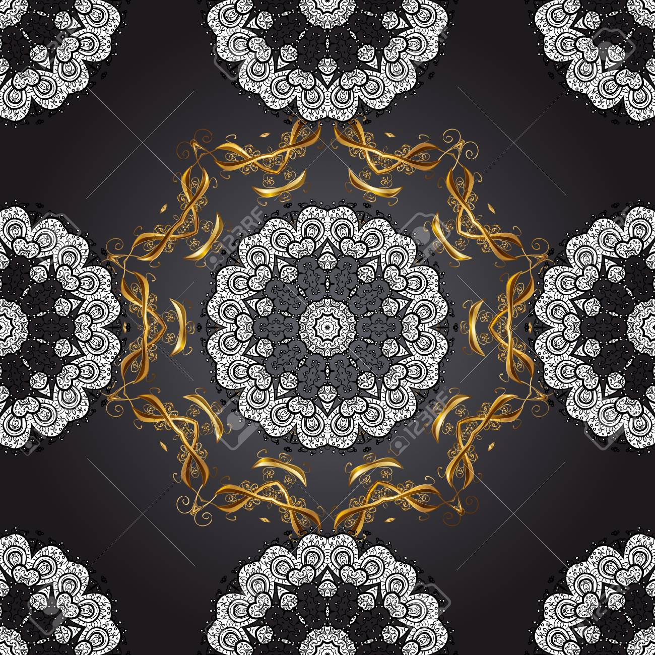 Paisleys Elegant Floral Vector Seamless Pattern Background Wallpaper Illustration With Vintage Stylish Beautiful Modern 3d Line