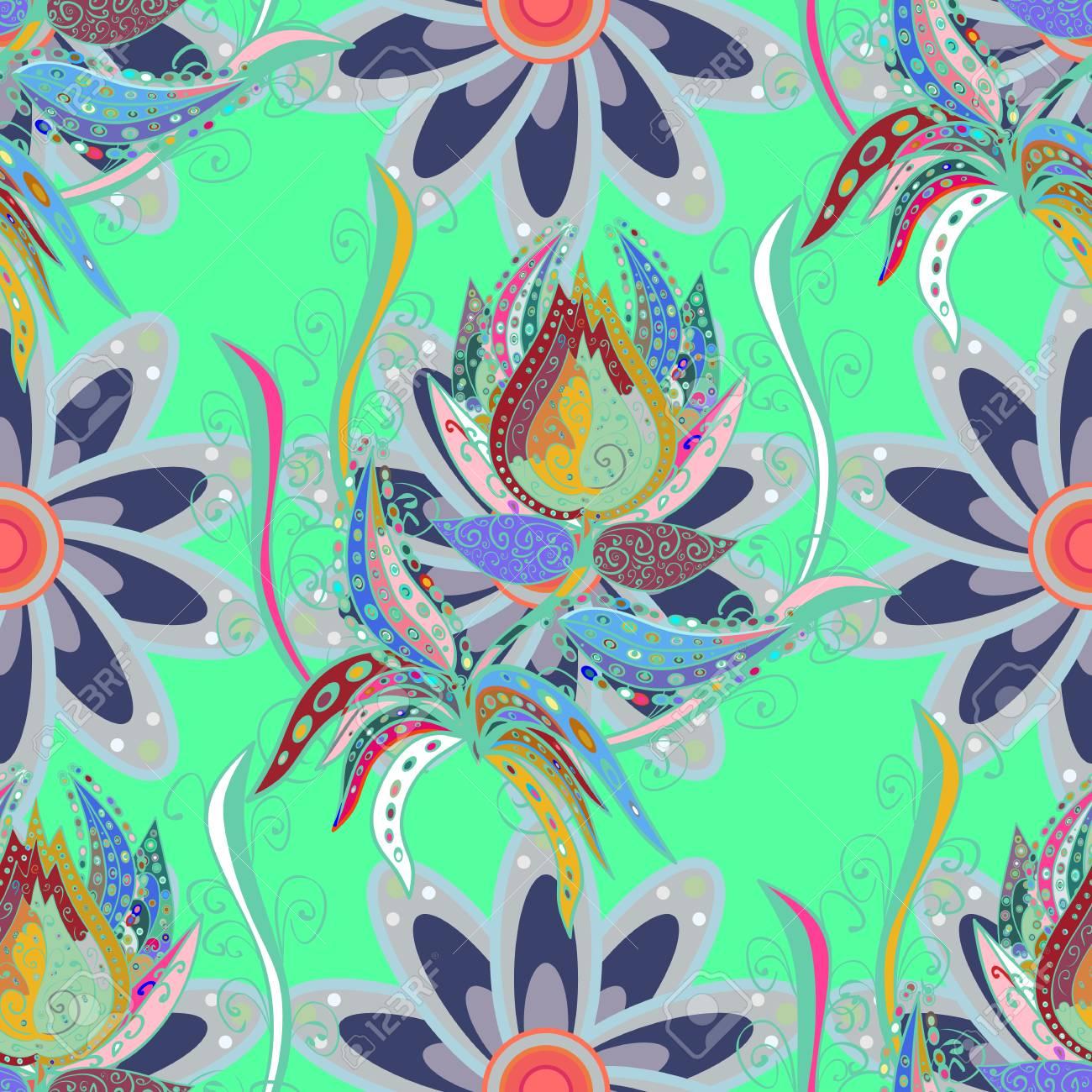 Tribal Art Boho Print Vintage Flower Background Background