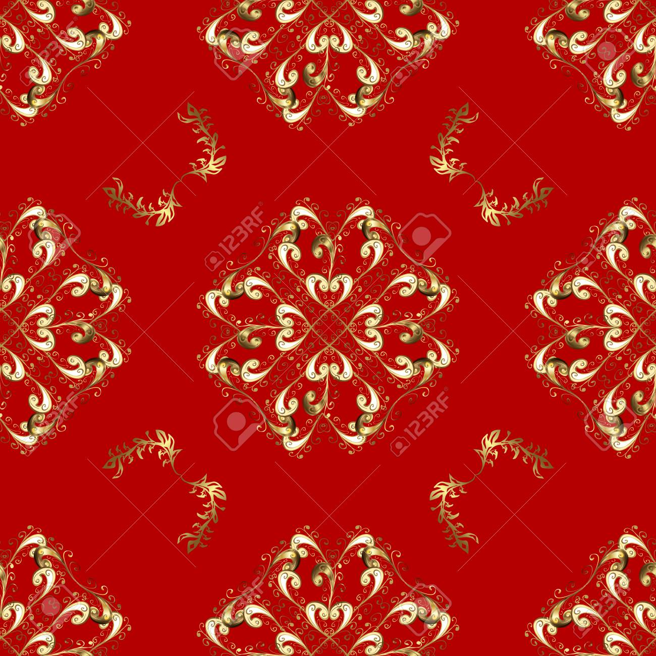 Vector Geometric Background For Your Design Wallpaper Golden