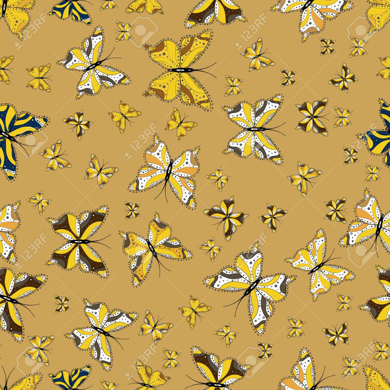 Colorful Cute Butterfly Seamless Pattern Background Perfect