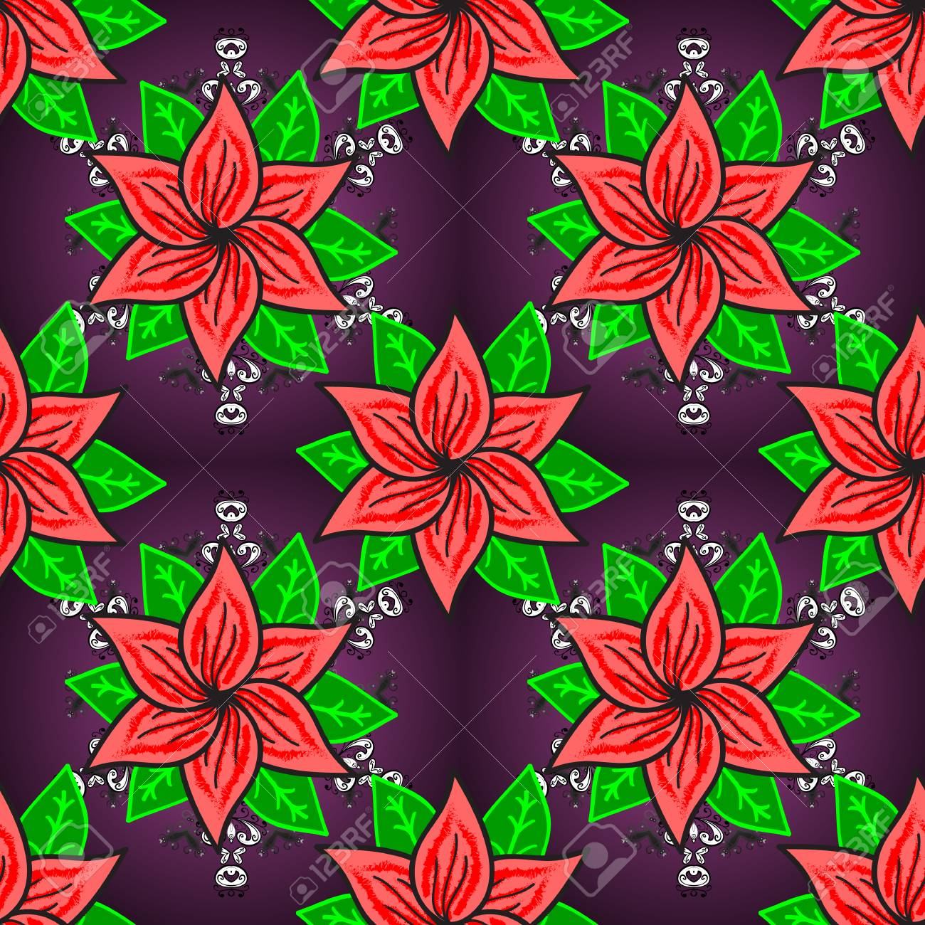 Modern Floral Background The Elegant The Template For Fashion