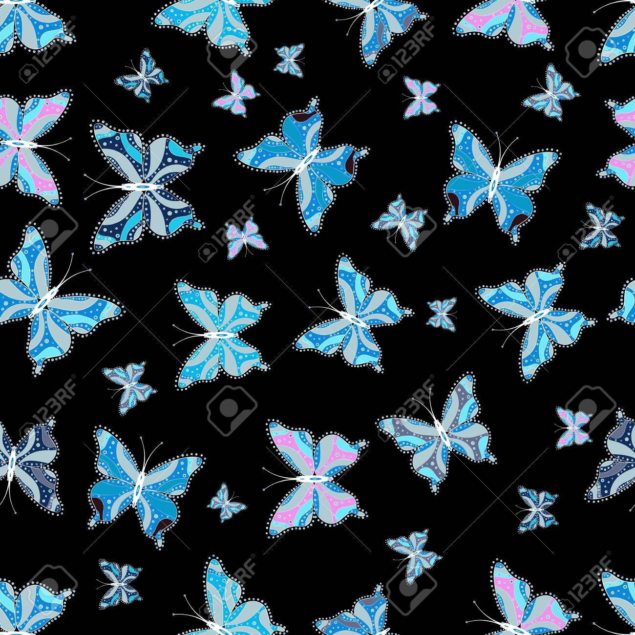 Spring Silhouettes And Shadows >> Suitable For Fabric Paper Packaging Butterfly Shadows And