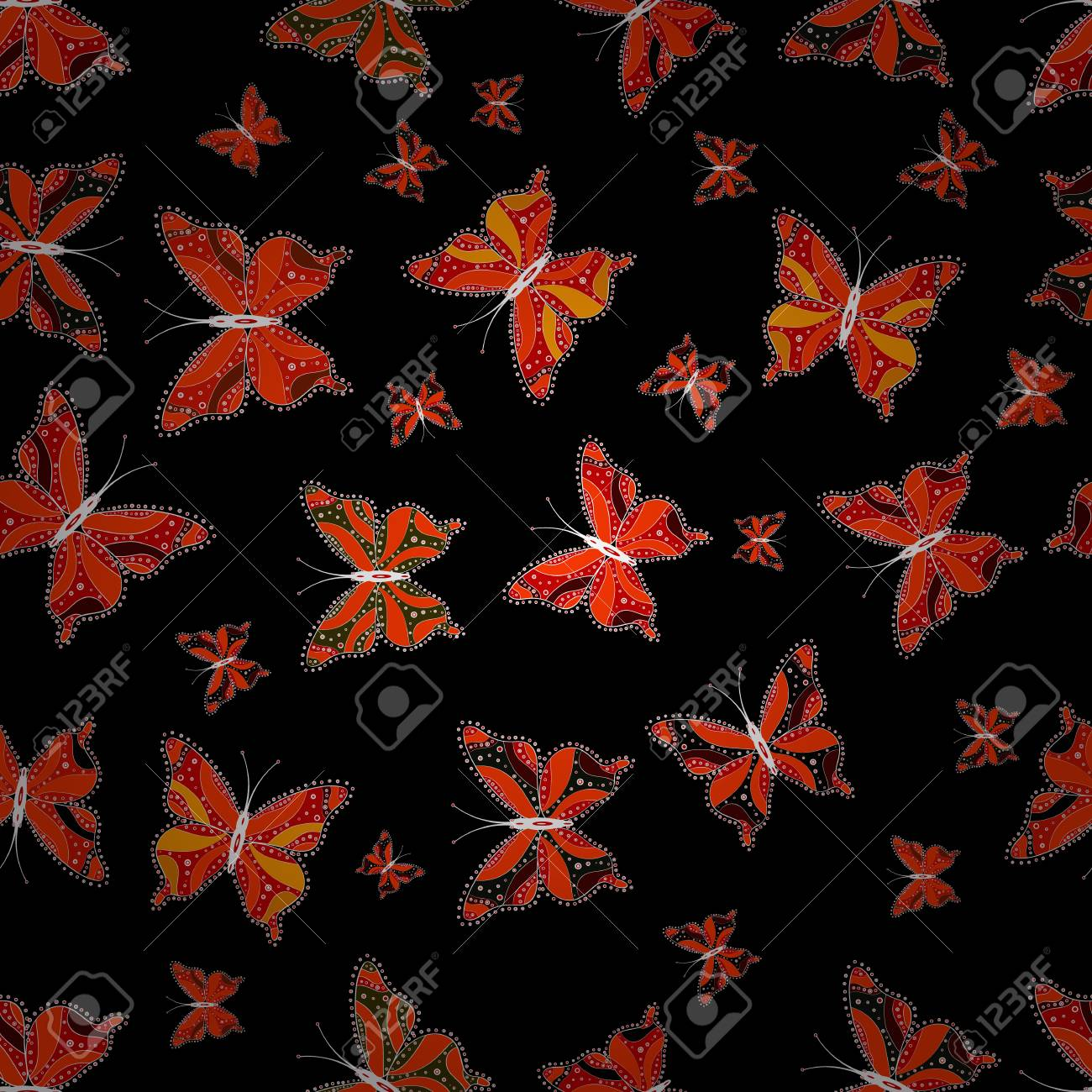 Butterfly On Black Orange And Red Background Random Black Royalty Free Cliparts Vectors And Stock Illustration Image 126819460