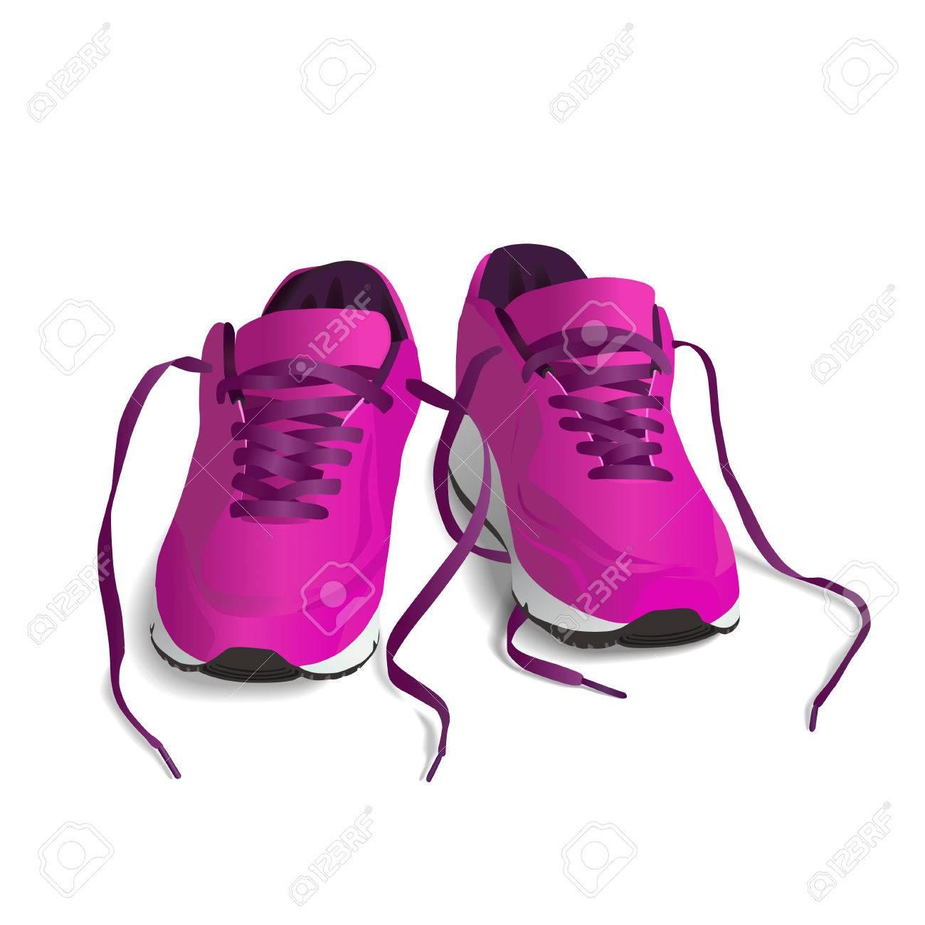 isoliert weißem Hintergrund auf SchuheLaufschuhSneaker Rosa Sport BEerxWdQCo