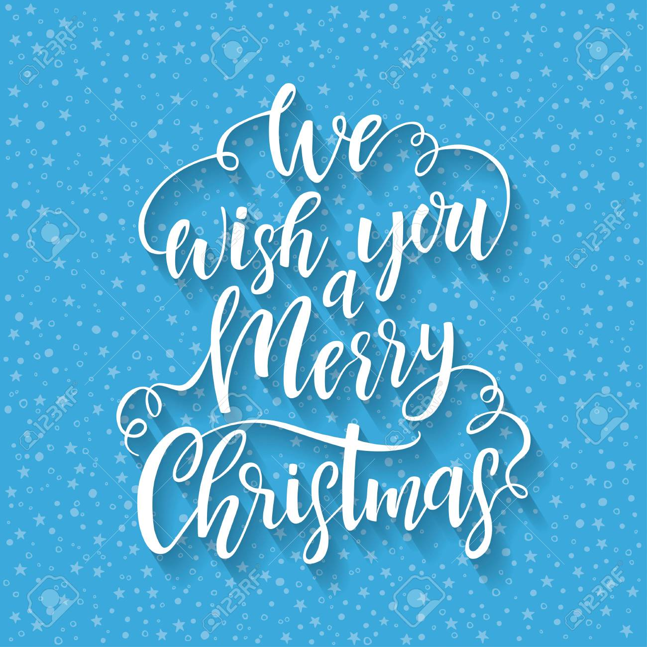 Hand Drawn Lettering We Wish You A Merry Christmas Vector Design Royalty Free Cliparts Vectors And Stock Illustration Image 68721428