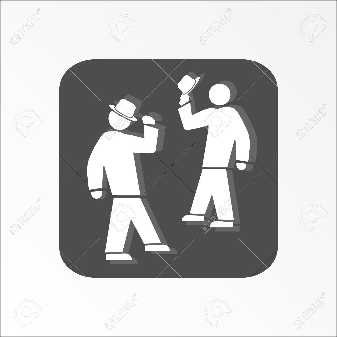 Office Web Icon Hat Take Off Meeting And Greeting Symbol White 2