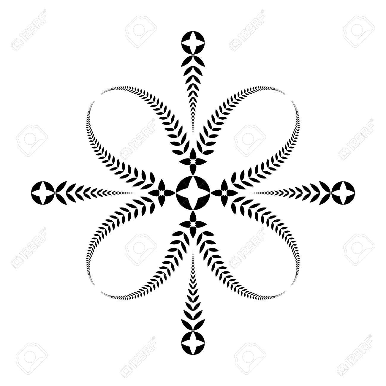 Laurel Wreath Tattoo Cross Stylized Black Ornament Of Leaves Royalty Free Cliparts Vectors And Stock Illustration Image 67662984