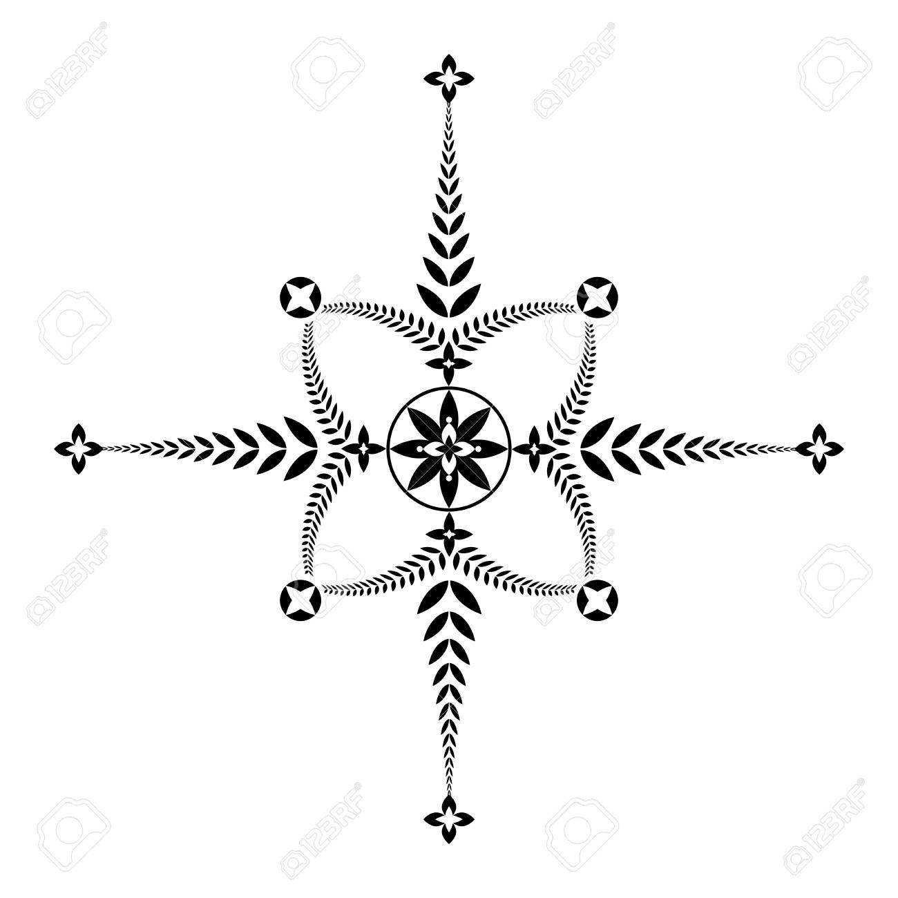 Tatouage De Couronne De Laurier Insigne De Croix Insolite Icone