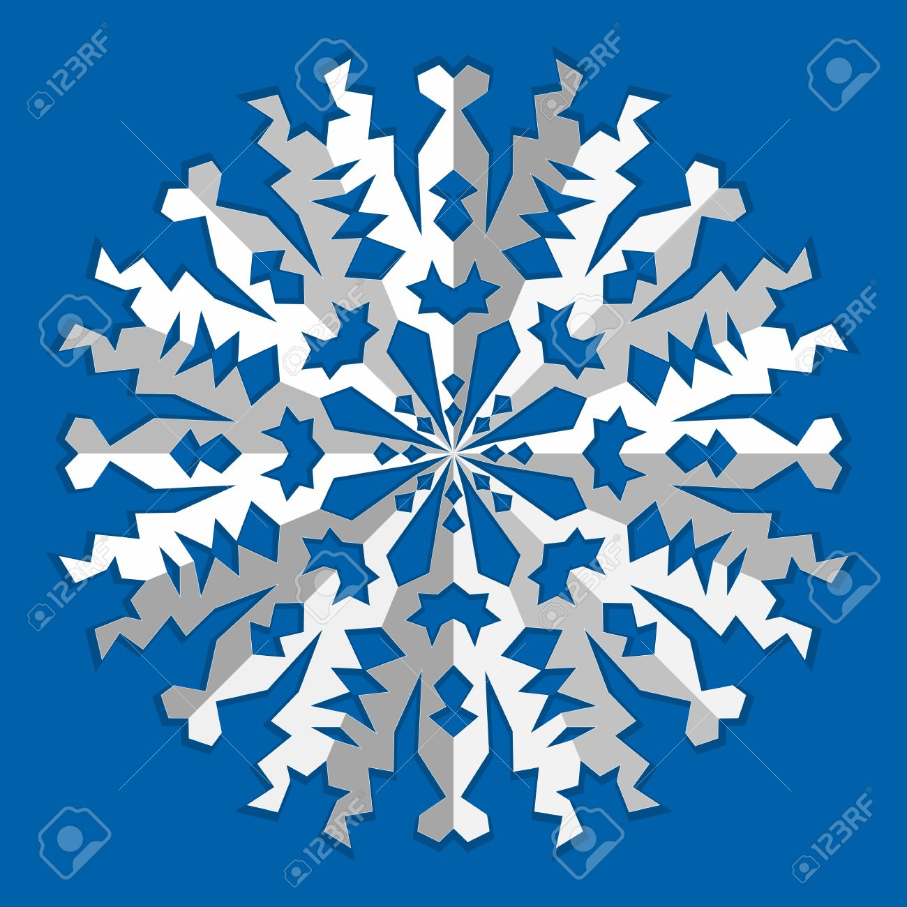 Christmas snowflake icon paper cut out origami sign with shadow paper cut out origami sign with shadow winter new year jeuxipadfo Gallery