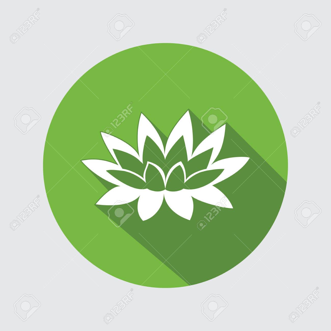 Lily flower icon waterlily water lilies floral symbol round lily flower icon waterlily water lilies floral symbol round circle flat sign izmirmasajfo
