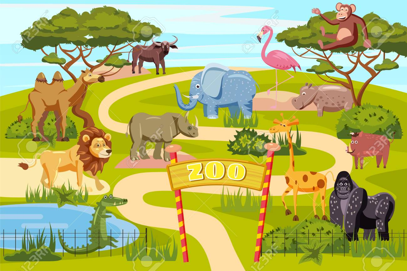 Image result for cartoon zoo