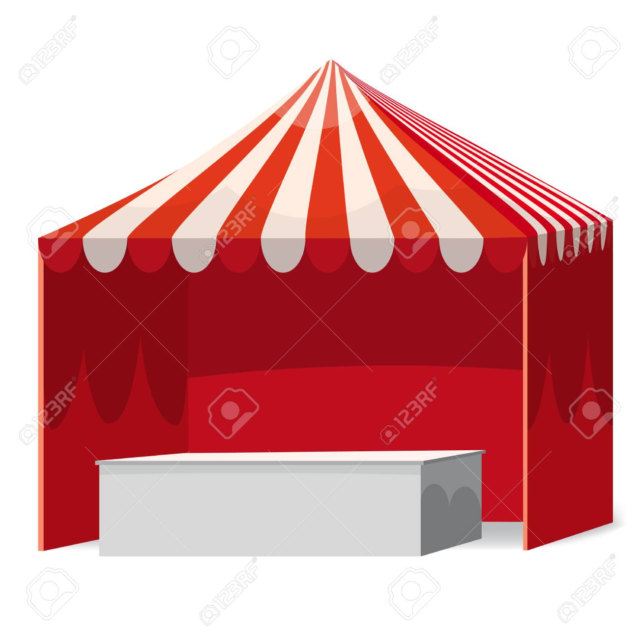 Stripped Promotional Outdoor Event Trade Show Pop-Up Red Tent Mobile ...