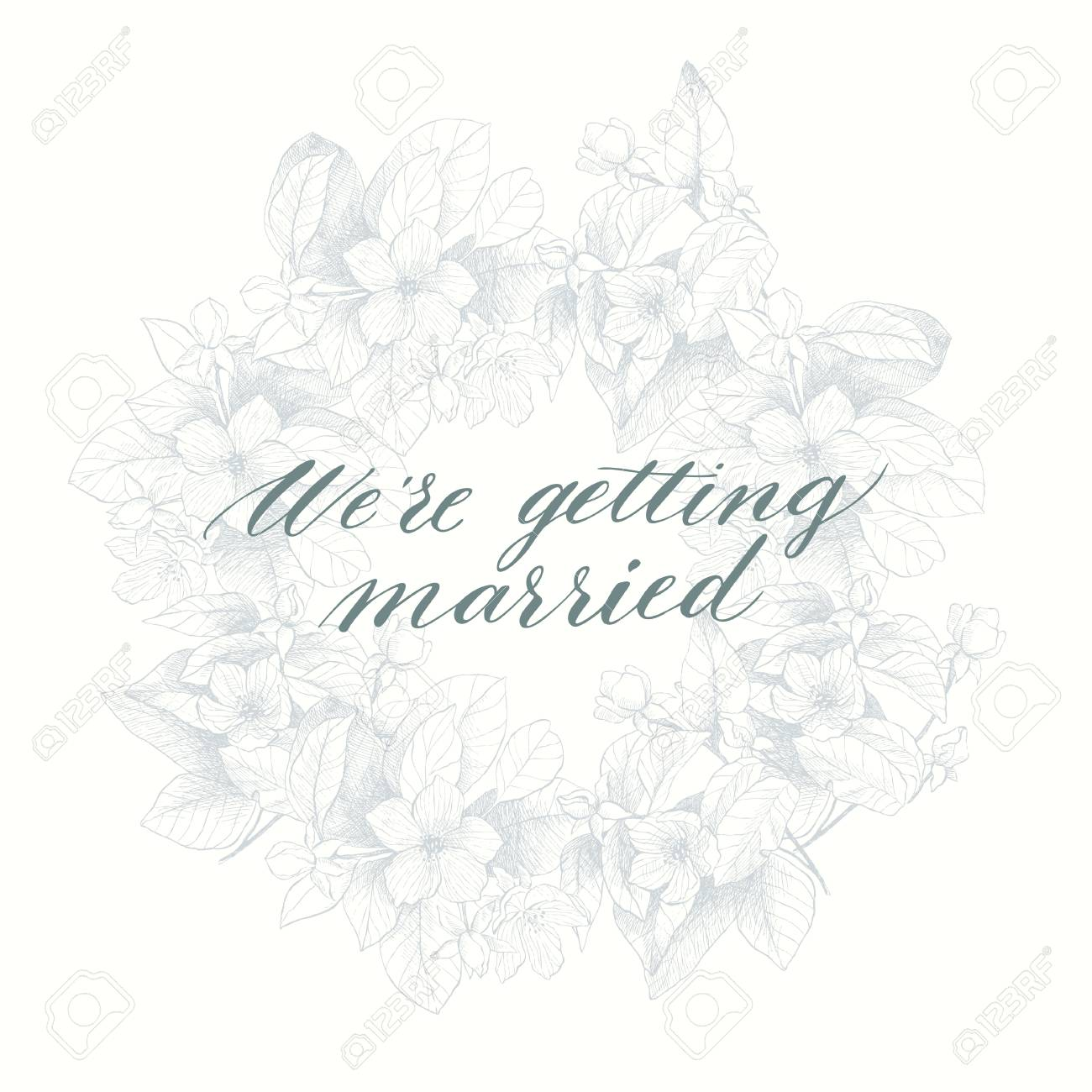 We're getting married phrase