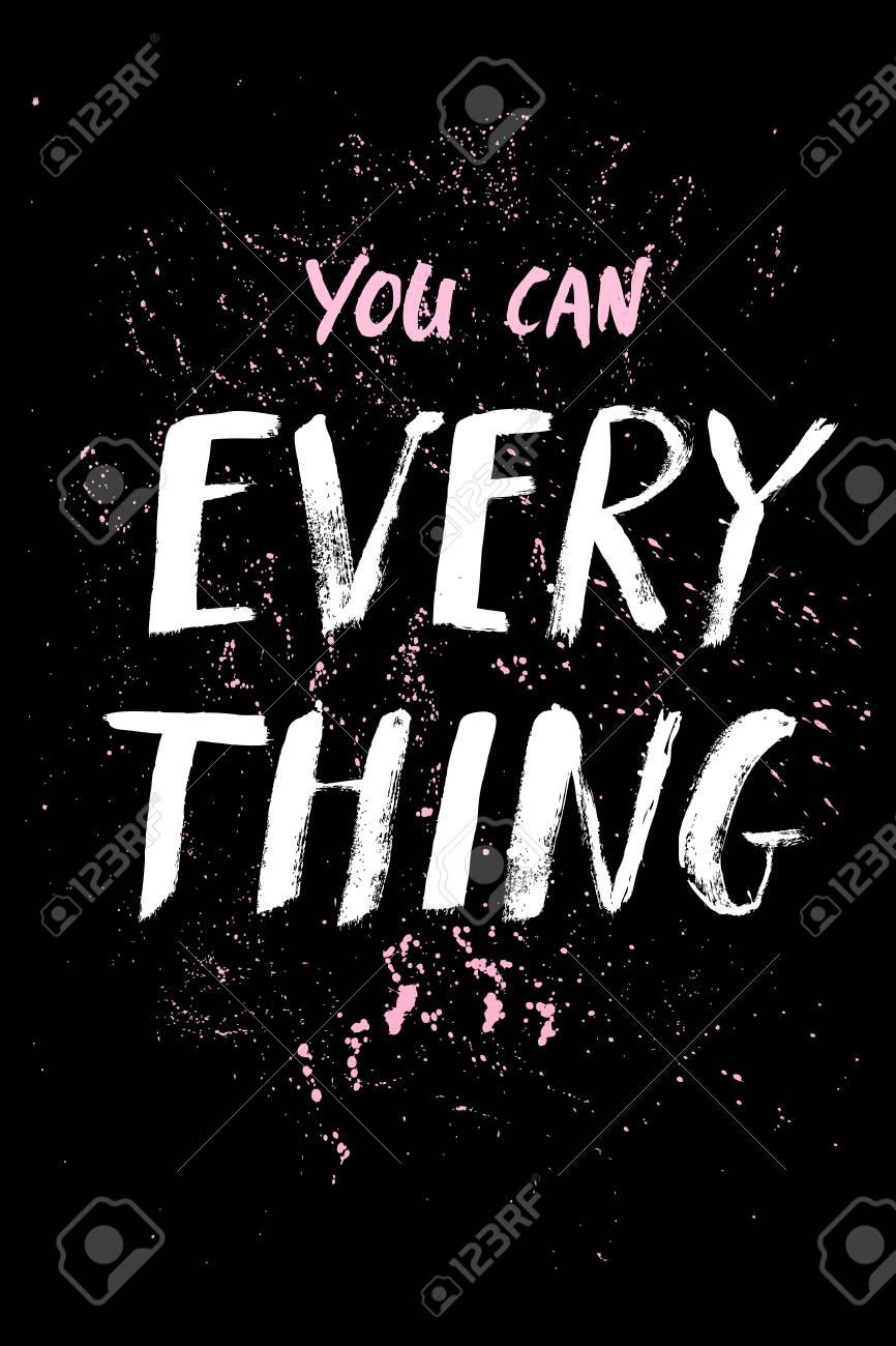 Uma Palavra Positiva Pede Ação Frase Para Motivação Para Um Cartaz Para Uma Impressão Camisetas Lettering