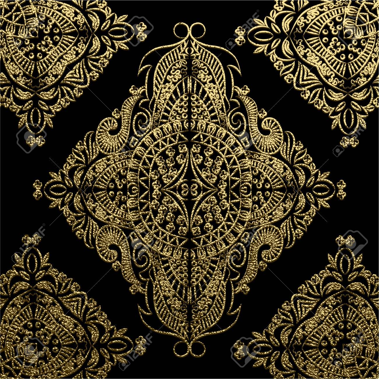 Decorative mandala golden vector illustration ornate line art golden vector illustration ornate line art element gold ornamental floral pattern stopboris Image collections
