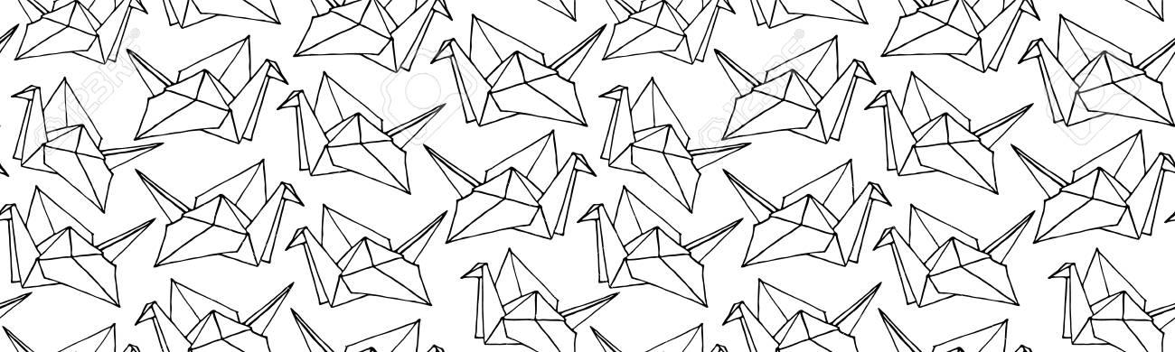 origami crane | Dżun | Flickr | 390x1300