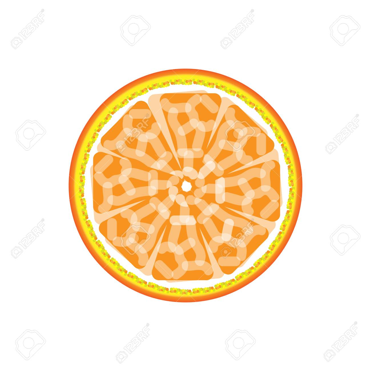 Orange Abstract Sign Pattern Juicy Fruit Graphic Background
