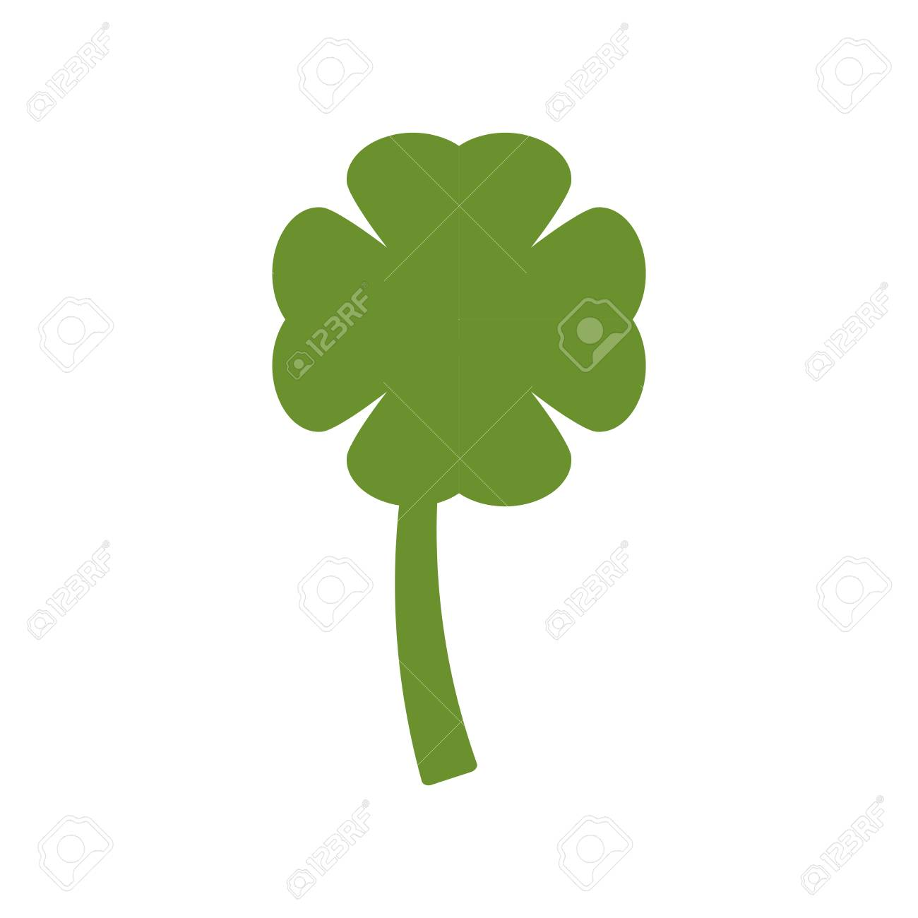 clover on white background abstract geometric sign pattern