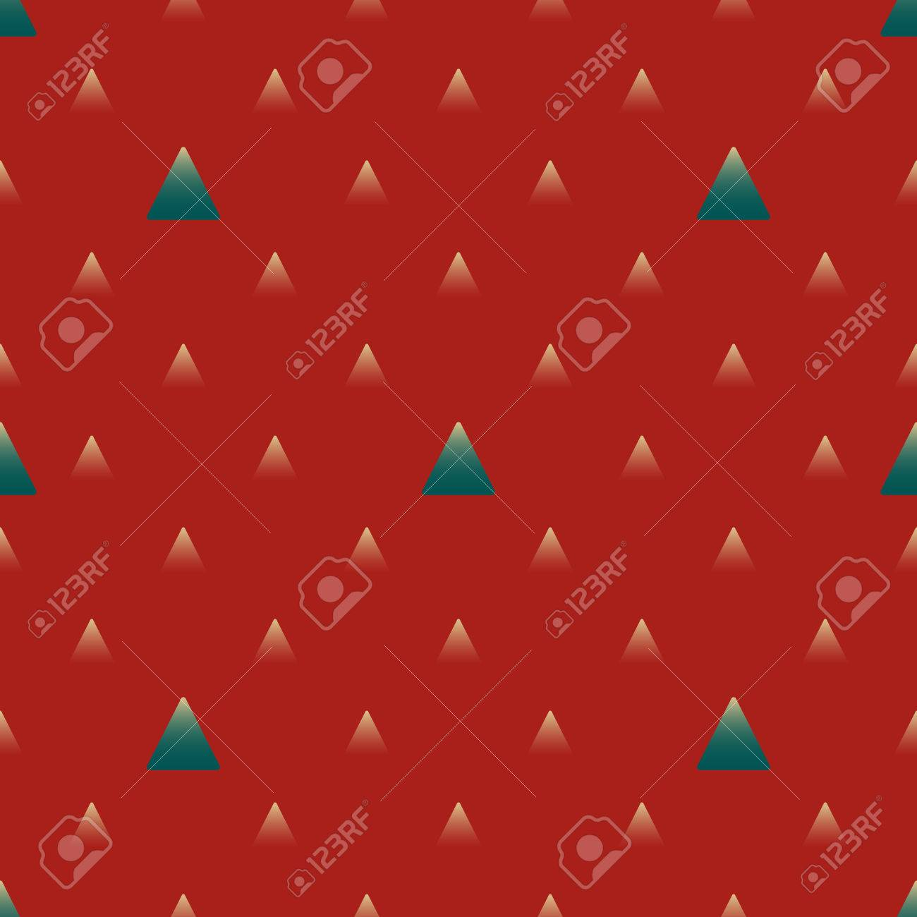 red and turquoise triangles with gradient geometric seamless