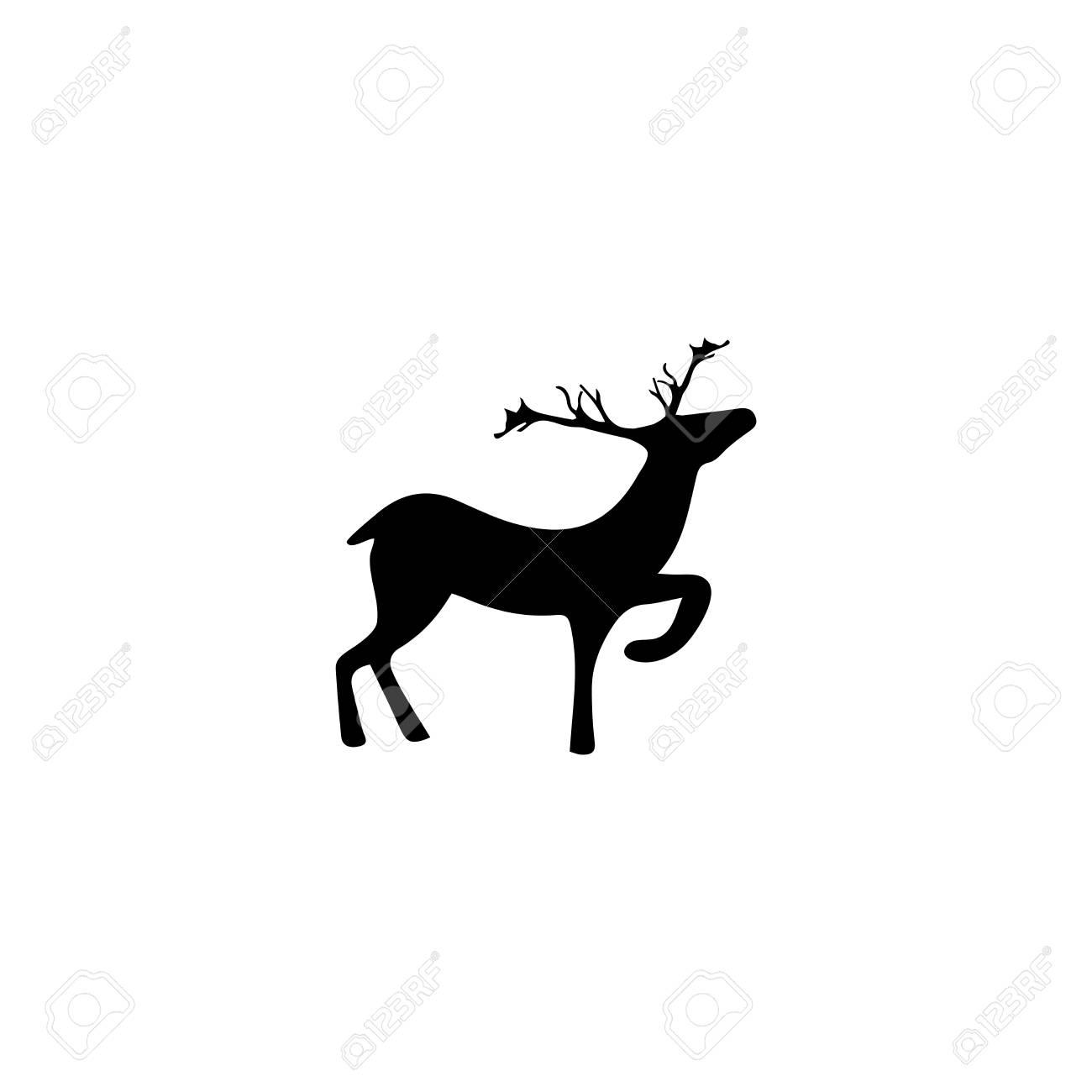 black deer on white background fashion graphic design modern