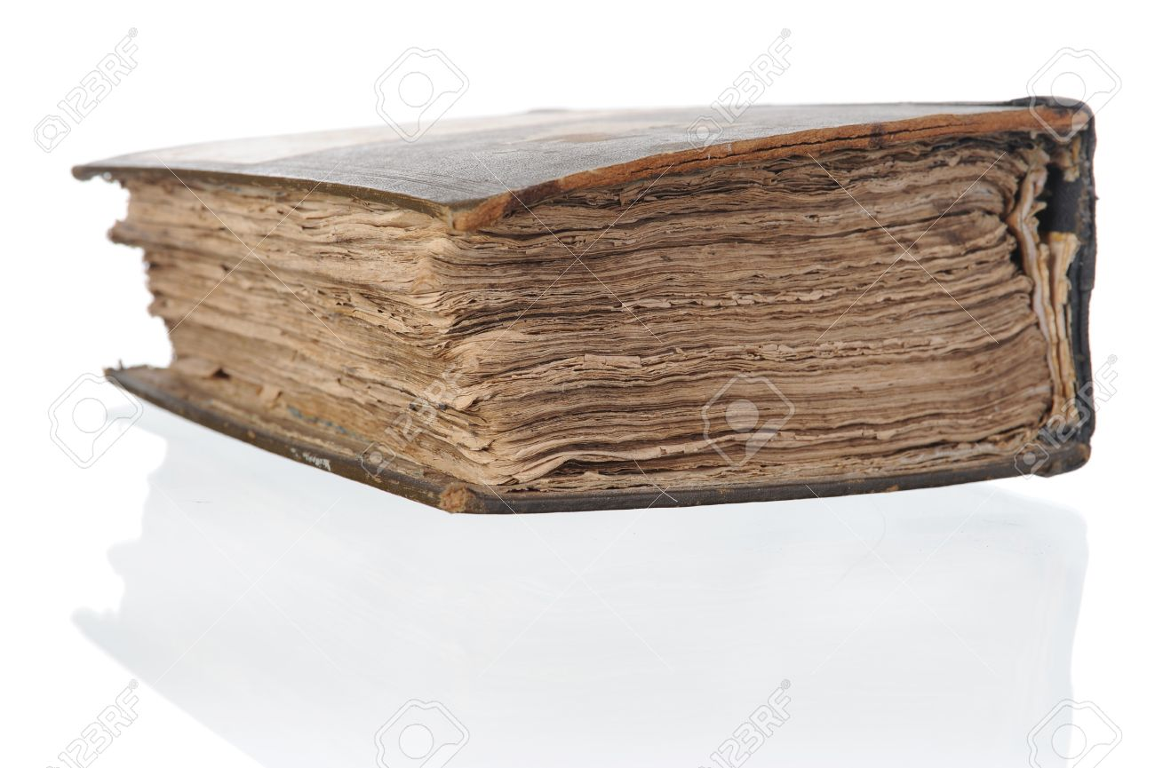 old thick book. Isolated on white background Stock Photo - 7905828
