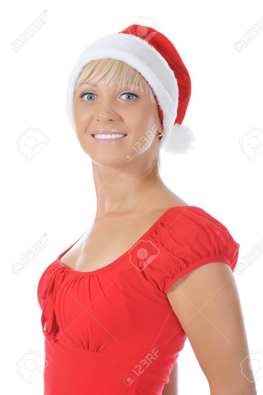Beautiful christmas  girl. Isolated on white background Stock Photo - 7983421