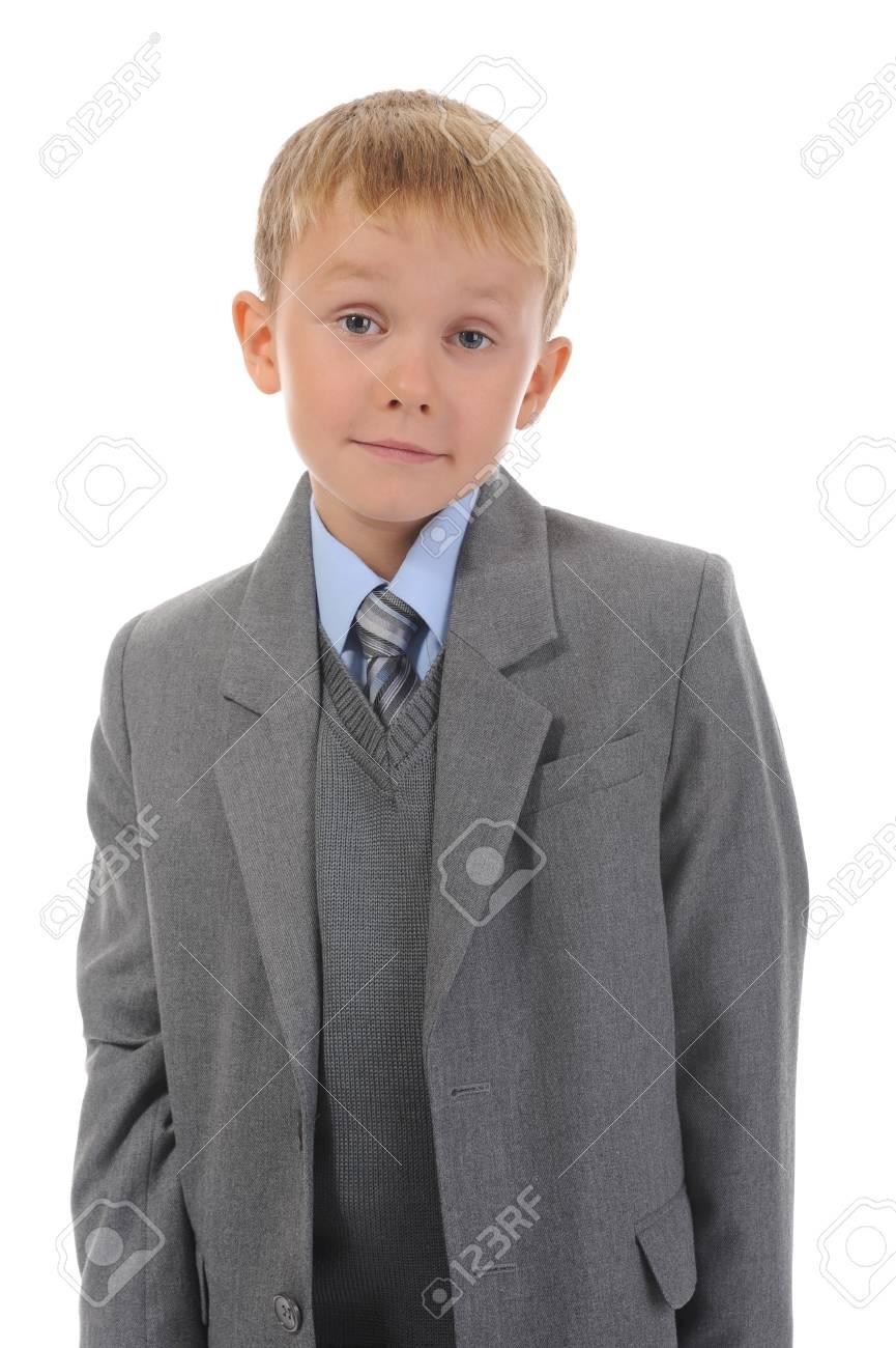 Boy in a business suit Standard-Bild - 8182292