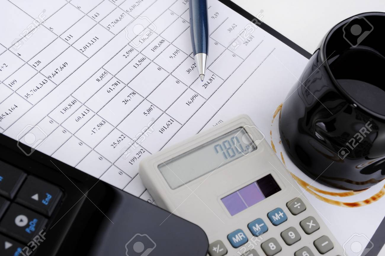 objects in the workplace of a businessman in office Stock Photo - 8474139