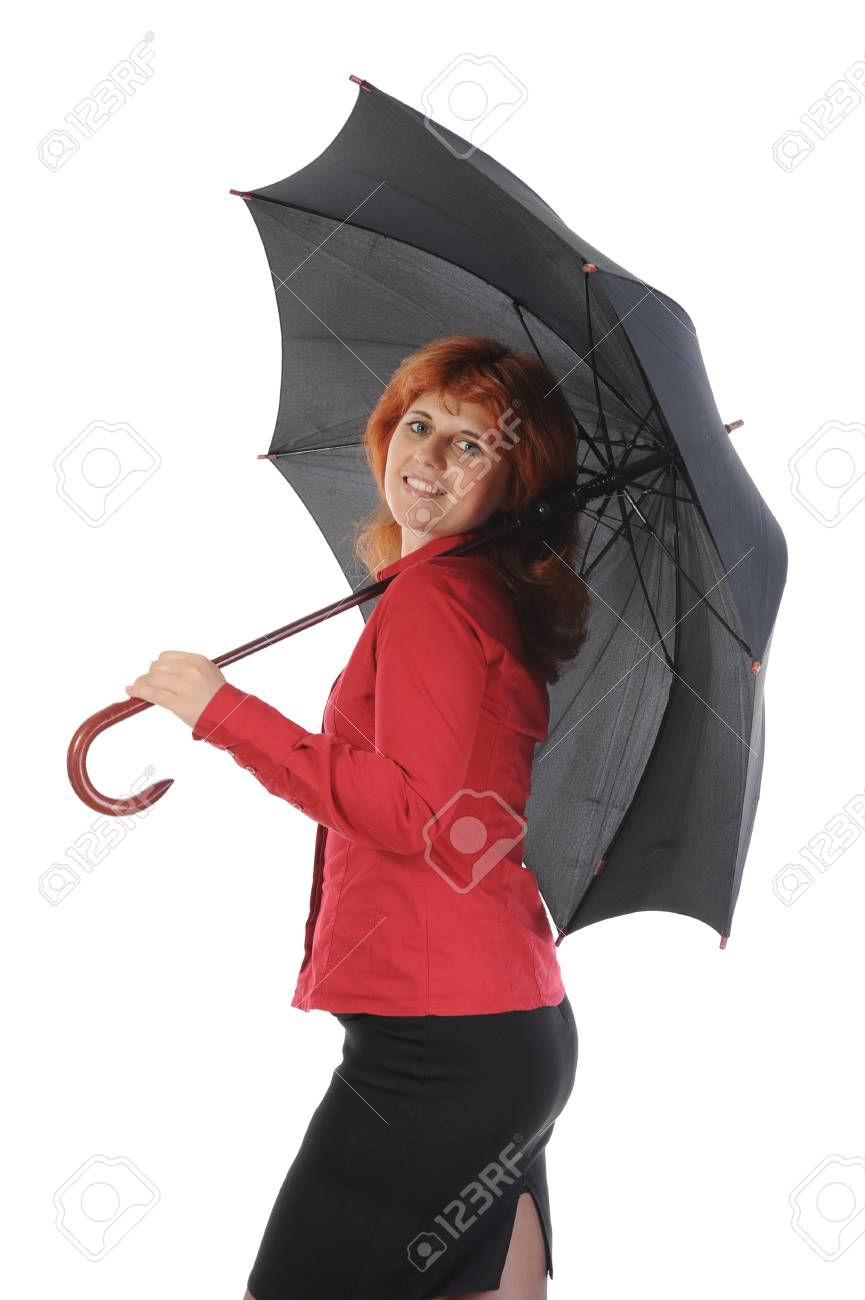 young woman with an umbrella Stock Photo - 8734583
