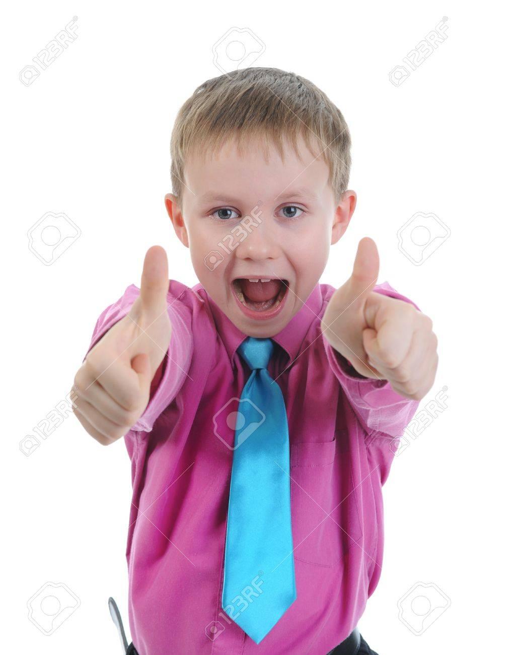 Funny little boy Stock Photo - 8734578