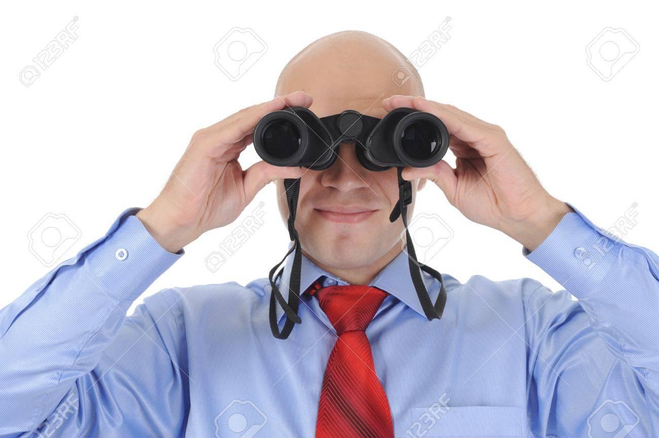 Businessman looking through binoculars Stock Photo - 8880705