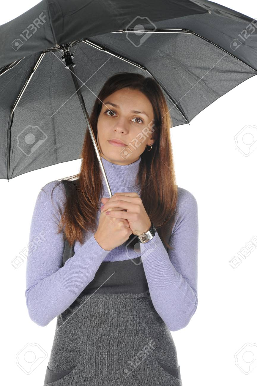 Image of a businessman with umbrella Stock Photo - 8889264