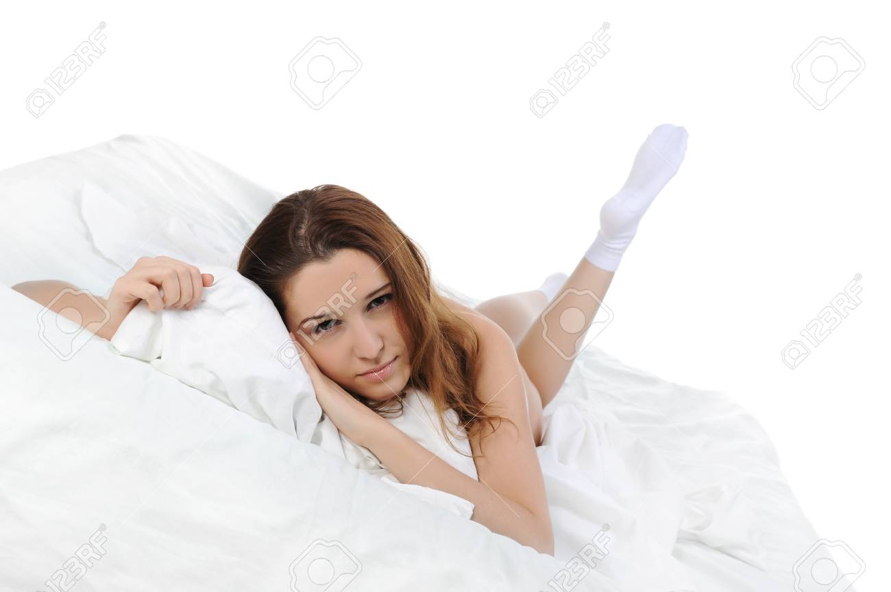 woman sleeping on the bed Stock Photo - 8889627