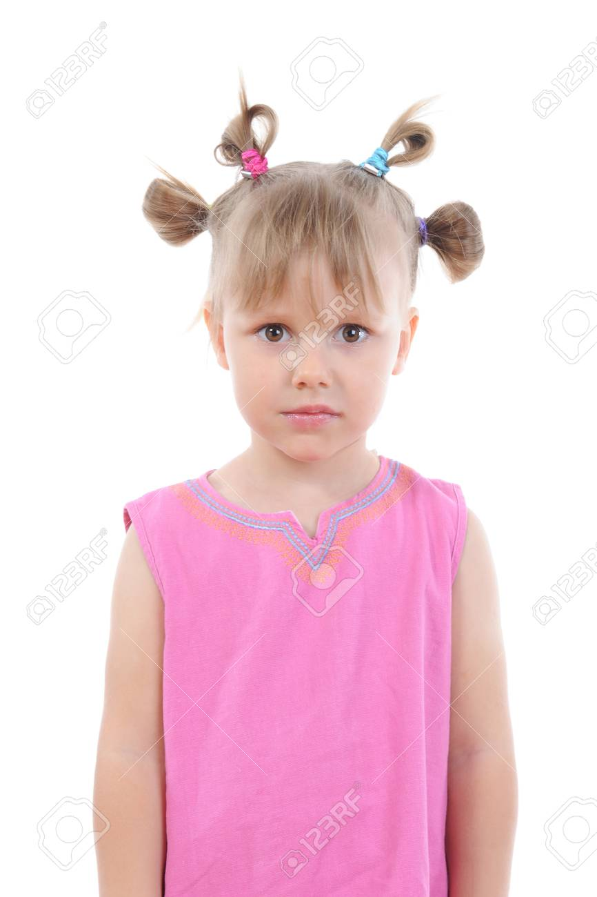 Funny girl in pink. Stock Photo - 8889629