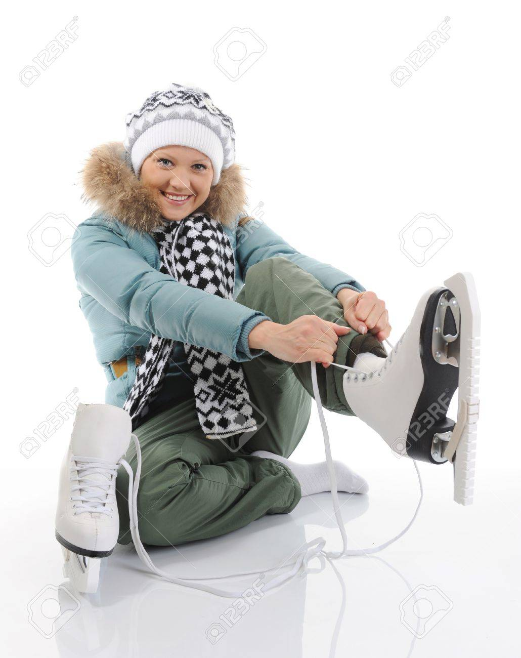 Girl with skates Stock Photo - 8889663