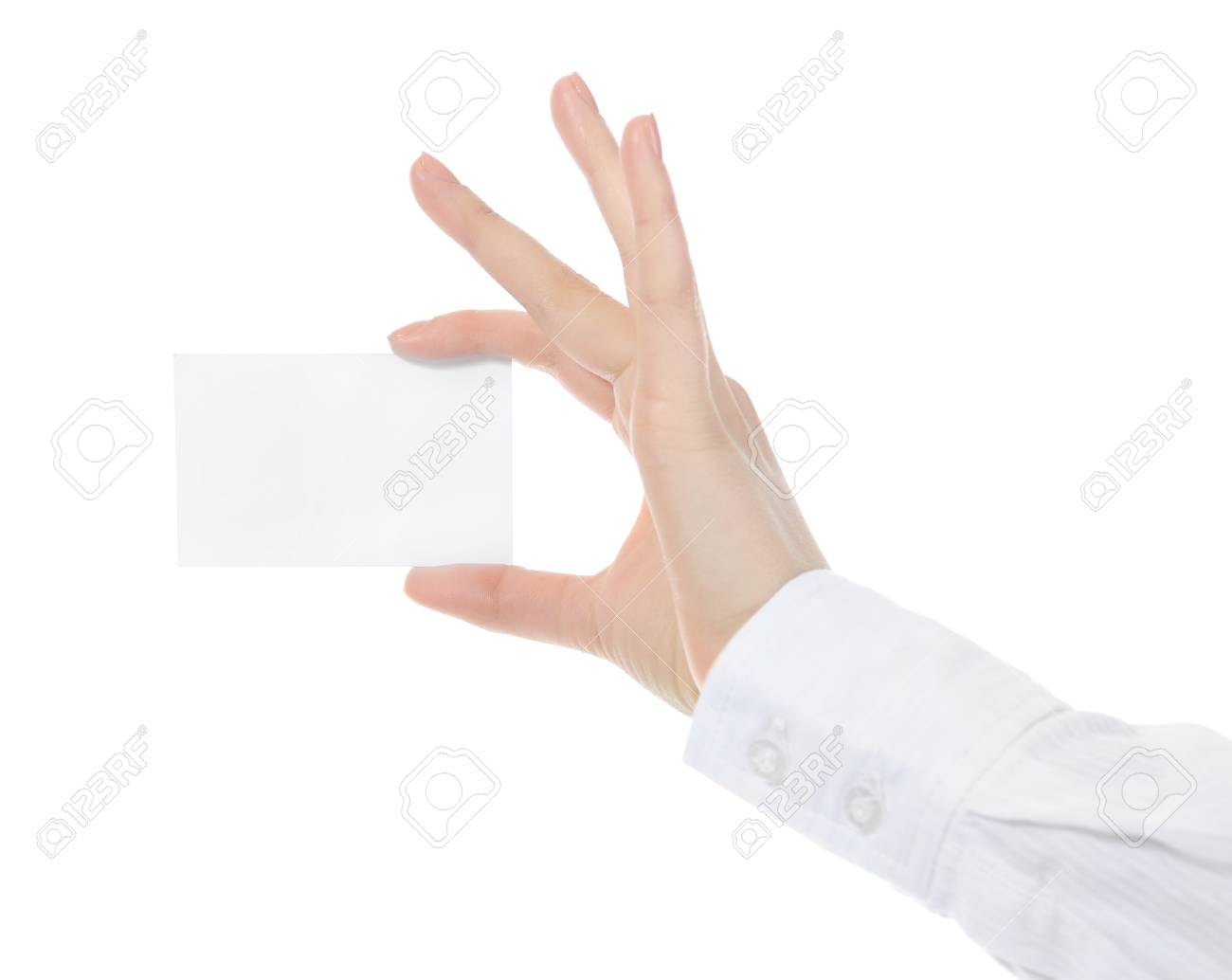 card blank in a hand Stock Photo - 8890546