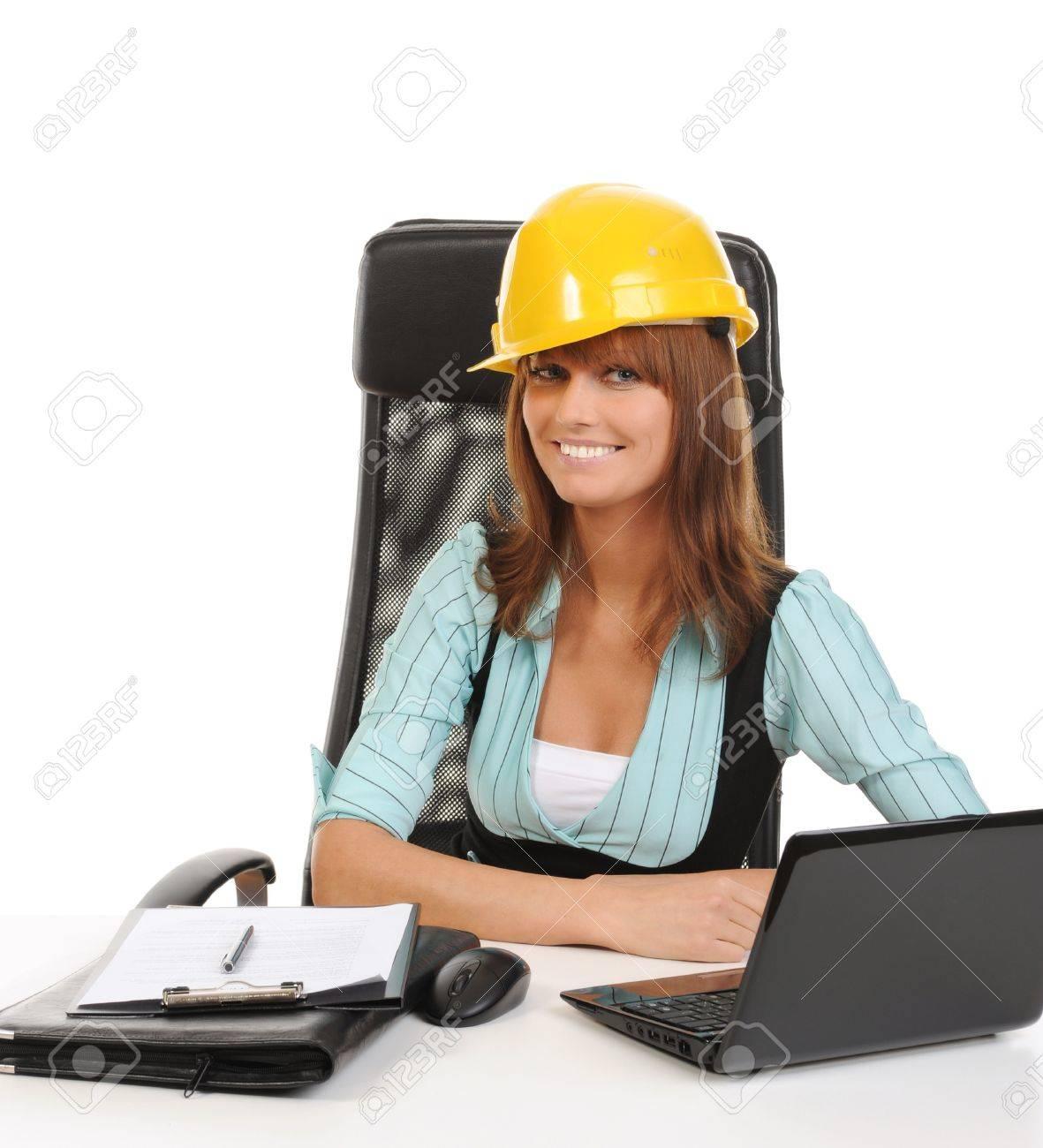 Joyful businesswoman Stock Photo - 8954704